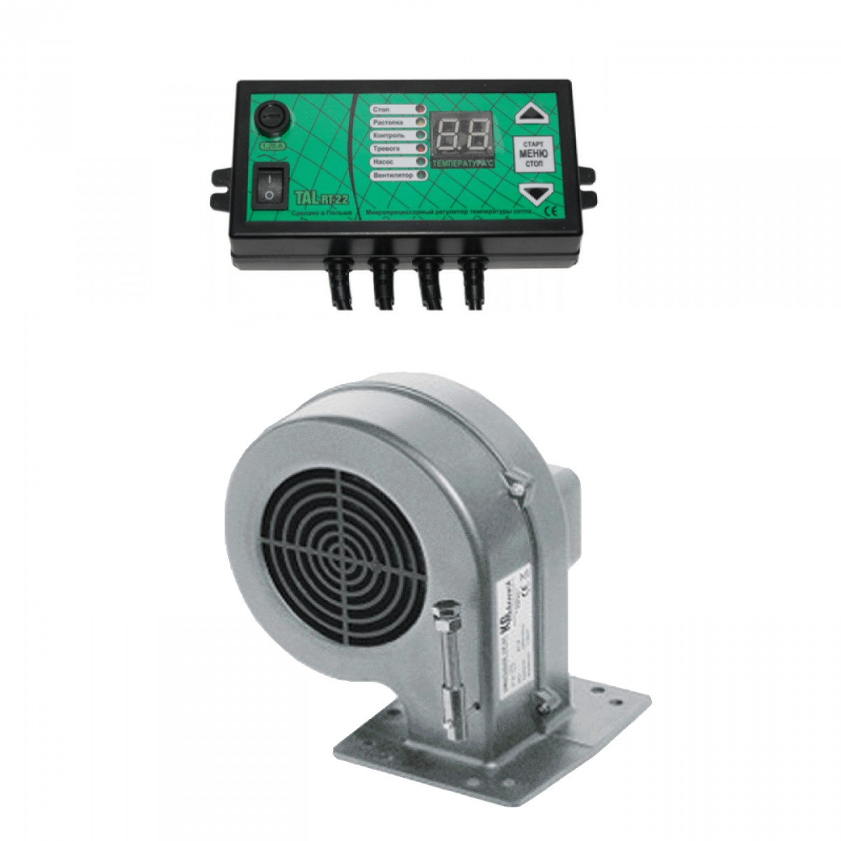 Комплект автоматики для котла RT-22 c вентилятором
