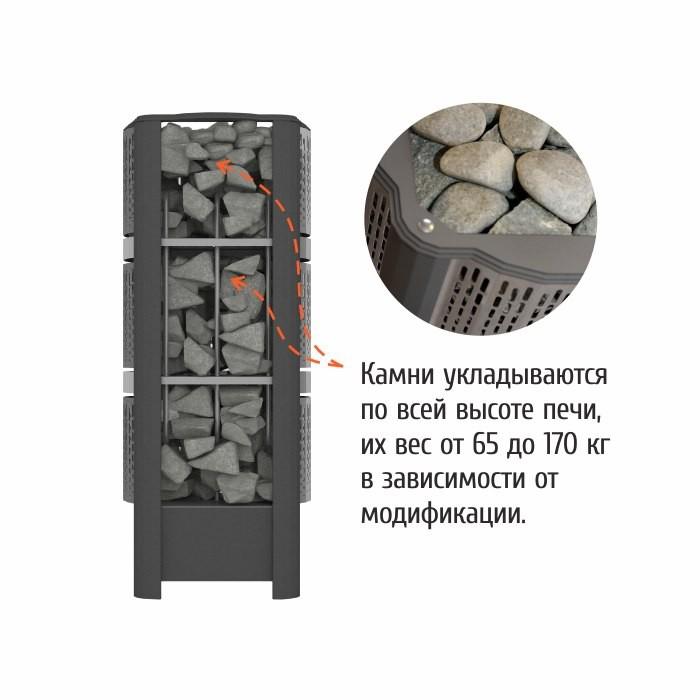 Электрическая каменка GeoS RAIN-Corner 6 (Угловая)