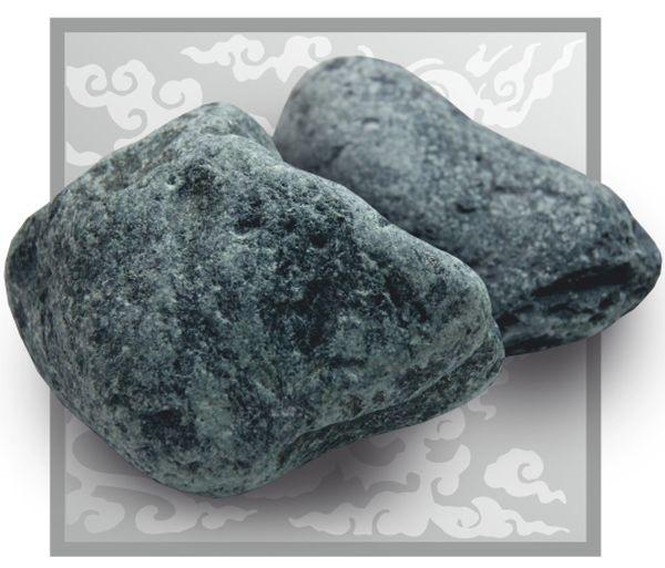 Камень для бани и сауны Родингит обвалованный (коробка 20 кг)