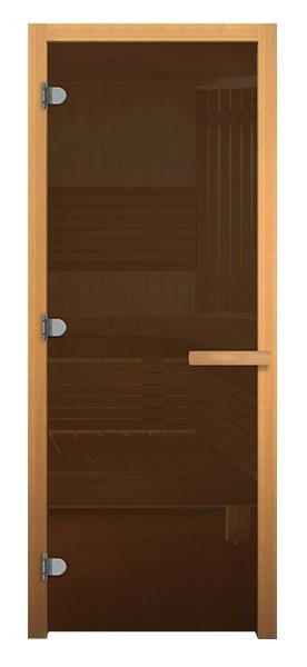 Дверь стеклянная Бронза, Осина