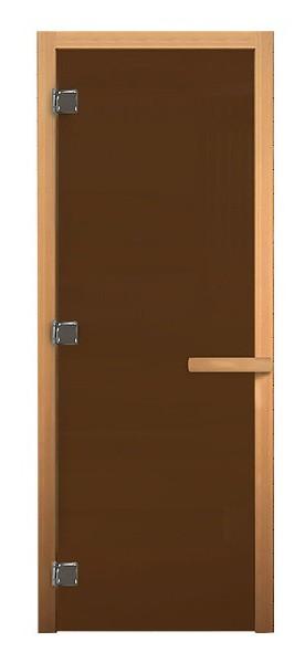 Дверь стеклянная Бронза Матовая, Осина