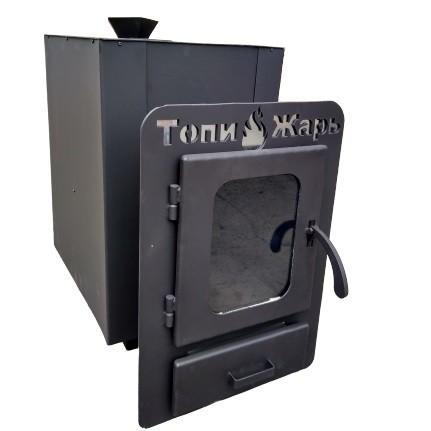 Банная печь Топи-Жарь: Тайфун 24, дверца со стеклом