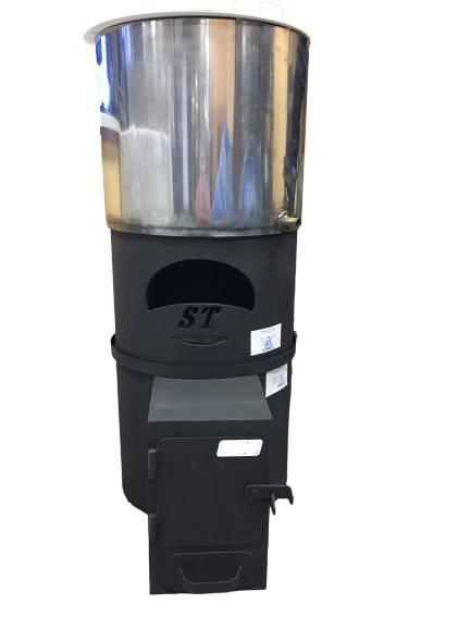 Печь круглая Топи-Жарь: Стандарт М, бак с полимерным покрытием, с в/к