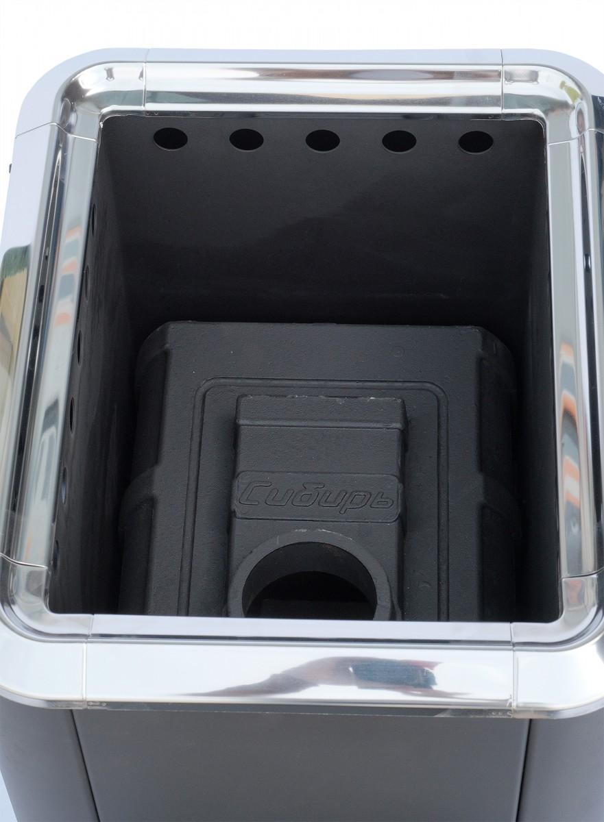 """Банная печь """"Сибирь-18"""" конвекционная с панорамной дверцей"""