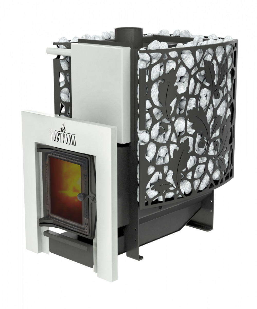 """Печь """"Кастрама 2.0"""", (ДТ-4С) чугунная дверка со стеклом, 6 мм"""