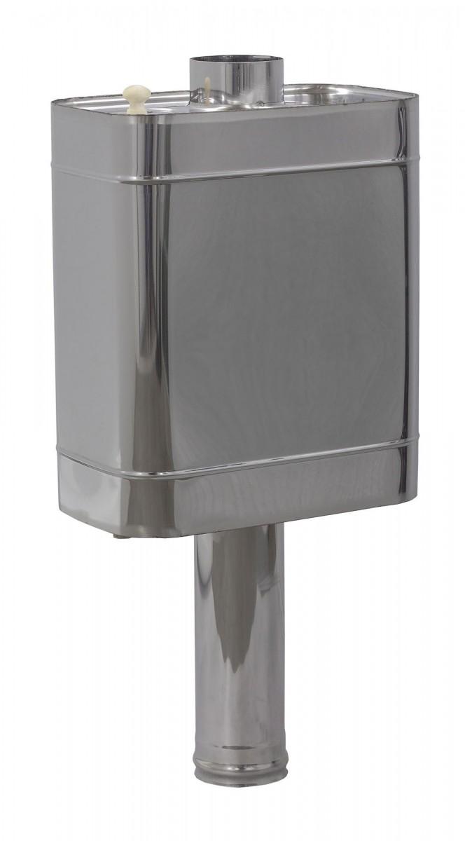 Бак на трубе для горячей воды «Сталь-Мастер» 50 л, d 115, нерж. сталь 0,8 мм