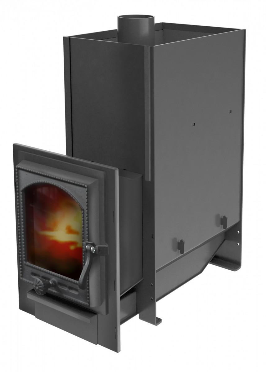 """Печь """"Кастрама 2.0"""", (ДТ-4С) чугунная дверка со стеклом """"Онего"""", 6 мм"""