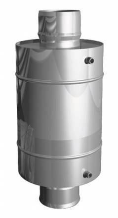 Теплообменник «УМК» круглый d 115, 12 л, нержавейка зеркальная 0,8 мм