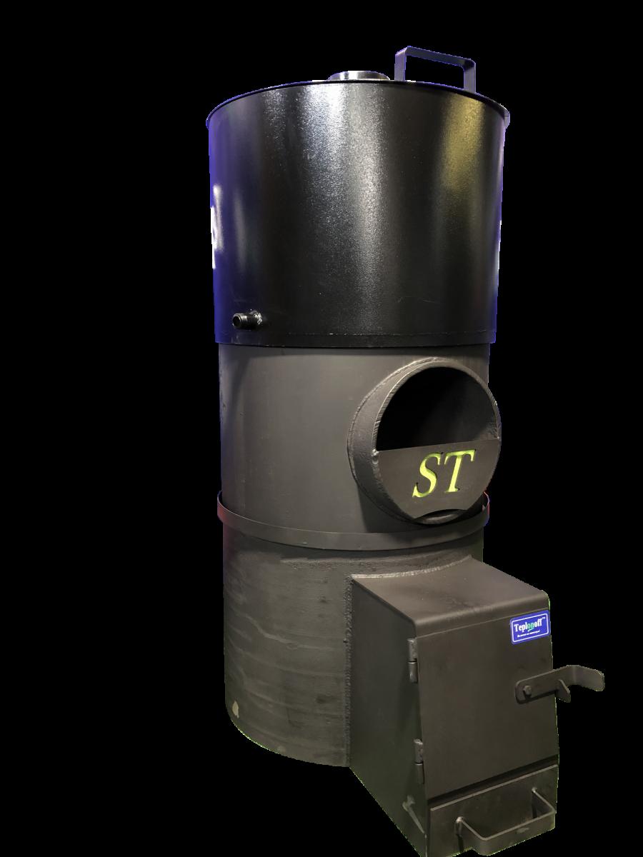 Банная печь Standart 18 Выносная топочная камера, бак стальной с полимерным покрытием