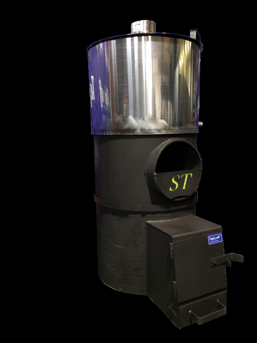 Банная печь Standart 18 Выносная топочная камера, бак из нержавеющей стали