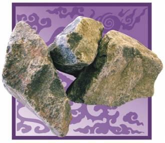 Камень для бани и сауны габбро-диабаз (коробка 20 кг)