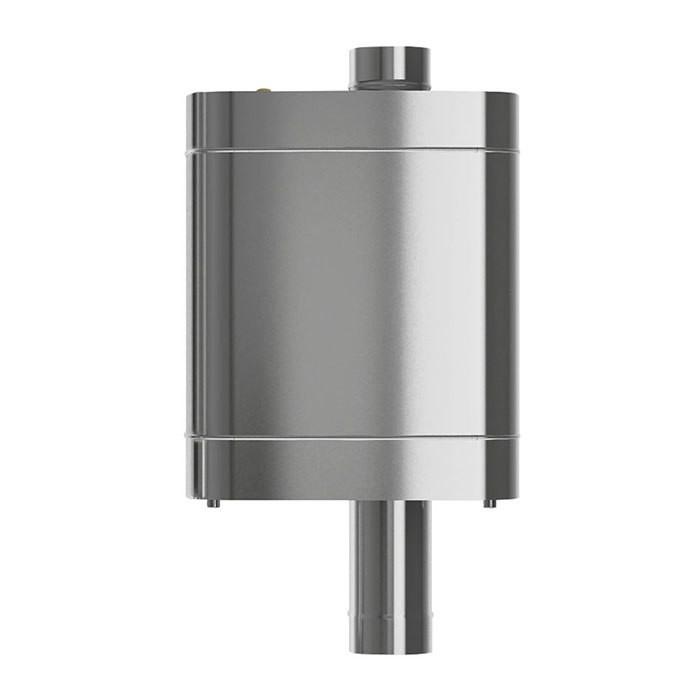 Бак на трубе для печи, ф 115, 70 л., 0,8 мм - 0,5 мм, нержавейка (штуцер 2 шт)